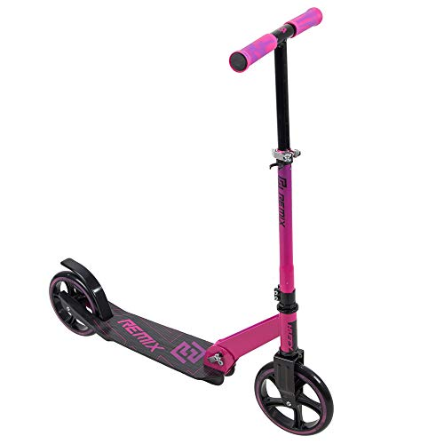 Huffy Remix Folding Inline Scooter for Girls, Pink, 200MM