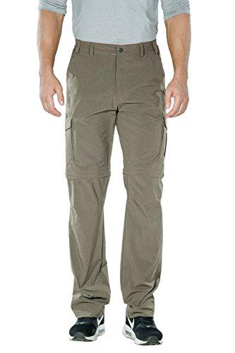 Nonwe Men's Quick Dry Light Weight Hiking Pants Khaki M/32 Inseam