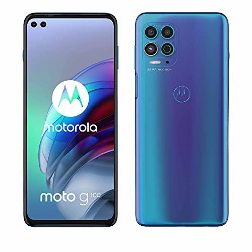"Motorola moto g100 (6,7"" - Display, 64-MP-Kamera, 8/128 GB, 5000 mAh, Android 11) Blau, inkl...."