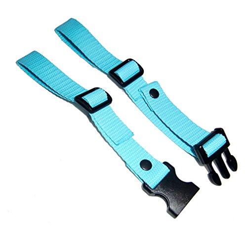 GURTIES® Brustgurt für Schulranzen Schulrucksack Rucksack universal 27 Farben (türkis)