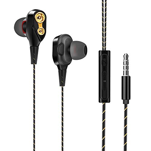 Zorara In-Ear Headphones Noise Isolating Stereo and Hi-Fi Sound Double...