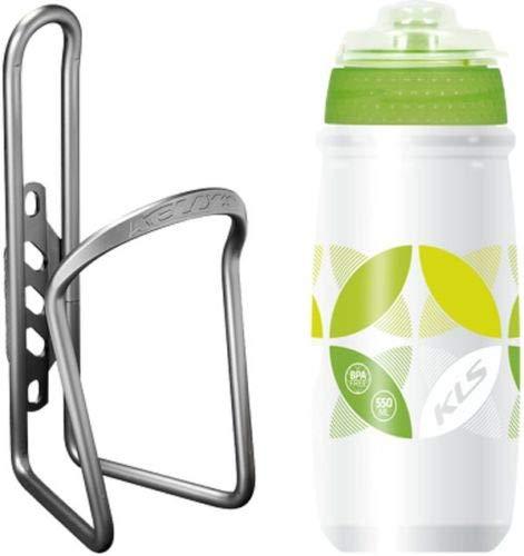 Kellys Kinderfahrrad Flaschenhalter mit Flasche Atacama BPA frei Ratio 0,5 Bunt, Farbe:Grün