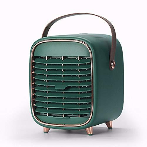 MZGN Mini Enfriador De Aire, Ventilador De Aire Acondicionado De Iones Negativos De Escritorio para El Hogar, Pequeño Ventilador De Enfriamiento, Portátil Al Aire Libre