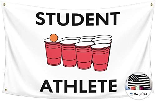 Probsin Student Athlete Flag Beer Pong 3x5 Feet Banner Funny Poster UV Resistance Fading Durable product image