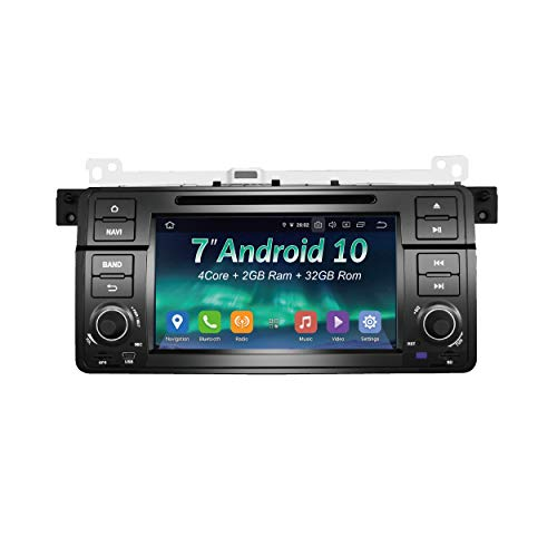 Upgraded Android 10.0 32GB RGB fastboot DSP+ 7 Inch TFT LCD 2 Din Online Navigating Car Stereo Radio Mirrorlink WiFi GPS for BMW 3 Series E46