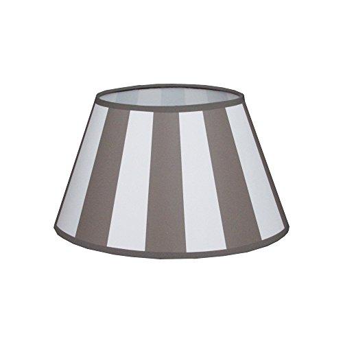 King Lampenschirm oval Streifen taupe Vintage Landhaus E27 D(unten):25/17 D(oben):15/9 H:15cm