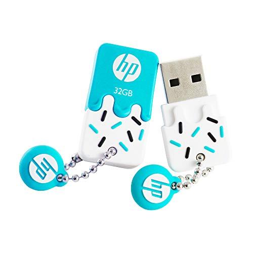 HP V178 Series USB Pen Drive, 32GB, Branco/Turquês
