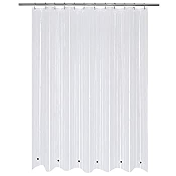 Long Shower Curtain Liner with 6 Magnets 72 x 78 inch PEVA 8G Thick & Heavy Duty Waterproof,72x78 Clear