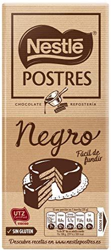 NESTLÉ POSTRES Chocolate negro para fundir - Tableta de
