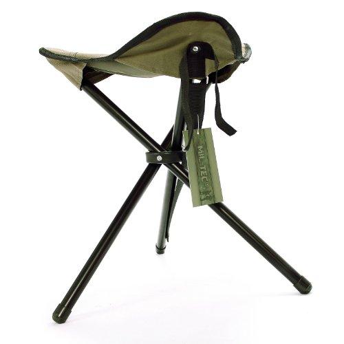 Mil-Tec - Silla plegable de 3 patas verde verde oliva Talla: