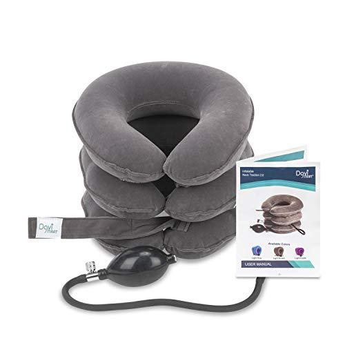 Cervical Neck Traction Device by Davismart, Inflatable Collar Brace, Adjustable Neck Stretcher, Neck...