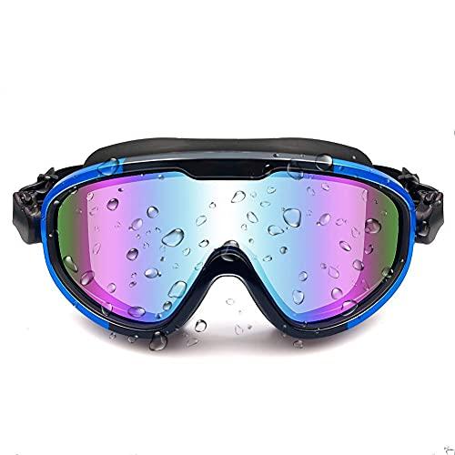 BENBANG Gafas de natación de visión ancha templadas gafas de natación gafas de natación para adultos (azul, 6.3* 3 pulgadas)