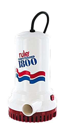 Rule A53S-24 1800 GPH Submersible Sump / Utility Pump, 24 Foot Cord, Automatic, 110 Volt AC , White/Red