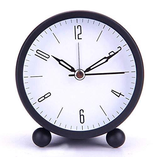 MingXinJia Relojes de Cabecera para el Hogar Reloj Despertador de Campana Doble con Luz de Fondo, Utilizado para Decoración de Dormitorio Y Hogar, Reloj de Metal Redondo, Reloj Despertador Silencioso