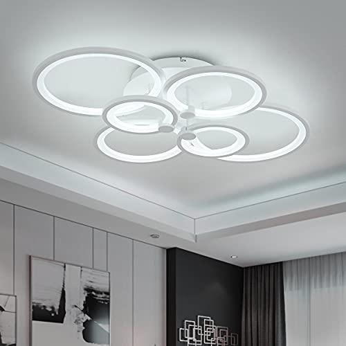 ROYAL PEARL LED Flush Mount Ceiling Light with 6-Light,...