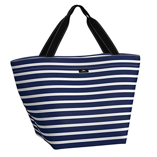 SCOUT Weekender Travel Bag, Lightweight Water-Resistent Travel Tote Bag or Beach Bag for Women in Nantucket Navy Pattern (Multiple Patterns Available)