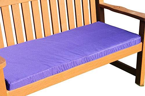 Garden Market Place Garden Market Place Sitzkissen für 2-Sitzer-Gartenbank, Violett, 95 X 45 X 35