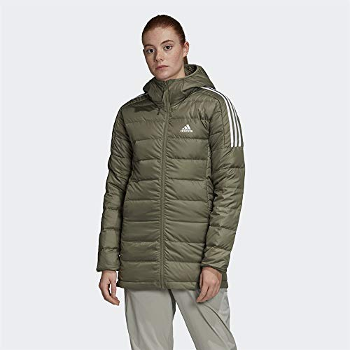 adidas Damen Essentials Down Parka, Leggrn, XS