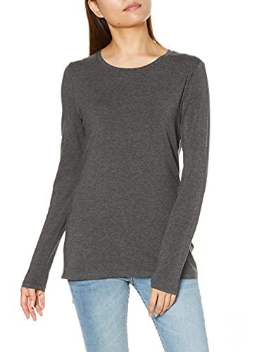 Amazon Essentials Long-Sleeve novelty-t-shirts, Charcoal Heather, Medium