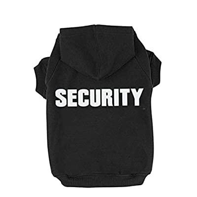 BINGPET BA1002-1 Security Patterns Printed Puppy Pet Hoodie Dog Clothes