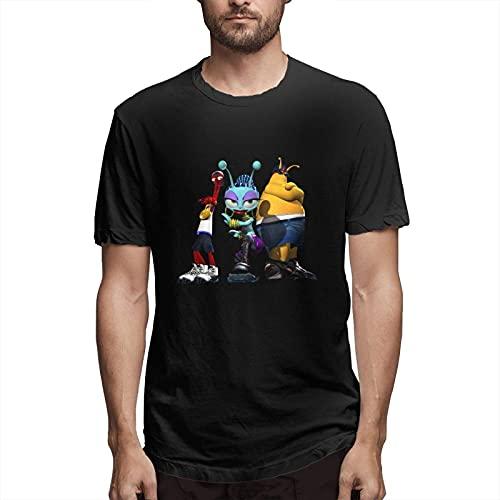 huatongxin Toejam and Earl Camiseta de Verano de Manga Corta para Hombre Camiseta gráfica de Moda Negra