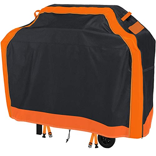gulrear Grill Cover 48 Inch, Barbecue Gas Grill Cover with Full-Height Waterproof Zipper, High-Density, and Fade Resistant