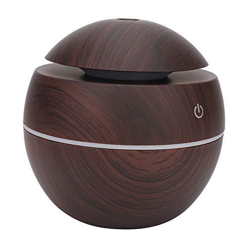 Diffusore di olio essenziale, diffusore di aromaterapia umidificatore a nebbia fredda ultrasonica, diffusori d'aria per terapia dell'aroma naturale per l'home office ricaric(Dark Wooden)