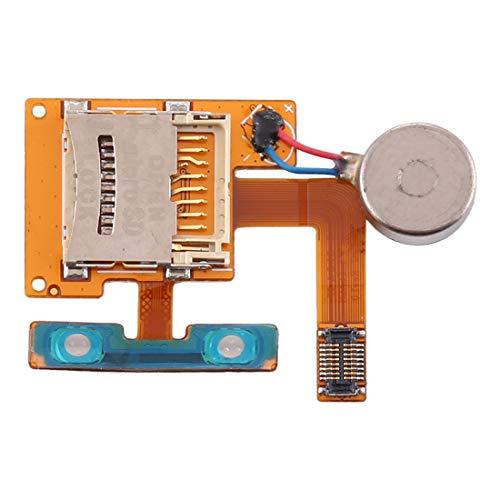 ASAMOAH Pieza de la Tarjeta SIM del reemplazo del teléfono Celular Soporte para Tarjeta SD + Motor vibrador para Samsung S8500