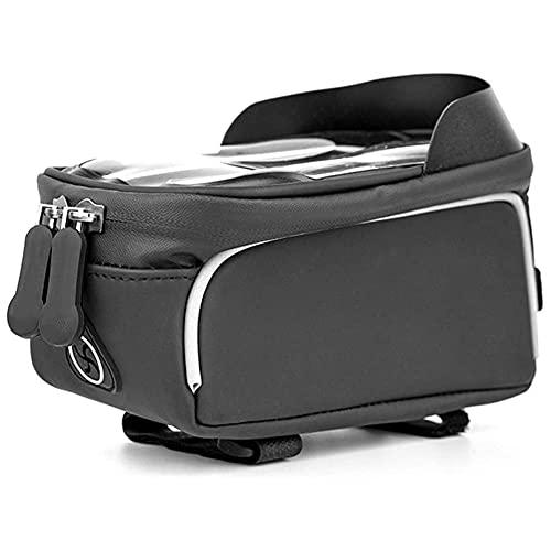 TIANYOU Bici Gran Capacidad Impermeable Portátil Bag Frame Bag Bolsa de Rack Bolsa Triangular Bolsas de Ciclismo Bolsa de Teléfono Bolsa Táctil con Pantalla Táctil con Viseras B