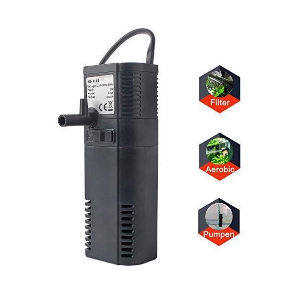 Aquarium Innenfilter Innen Filter Pumpe mit Sprüh Stange 300L/450L/H, 2W/6W
