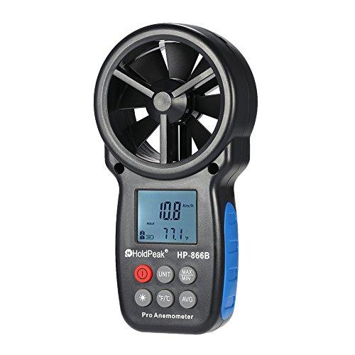 KKmoon Anemometri di Velocità, Misurazione di Velocità del Vento e Temperatura, Display LED per Windsurf Aquilone Gara Vela Pesca