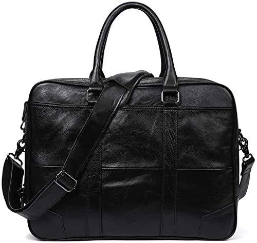 Bolsa de las señoras de los hombres, bolsa de mensajero de 15 pulgadas y maletín desmontable,Black