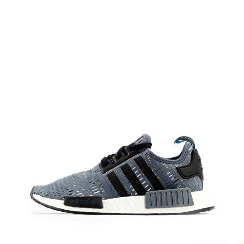 Adidas Herren – NMD R1 – Grau / Schwarz / Weiß – EU 40