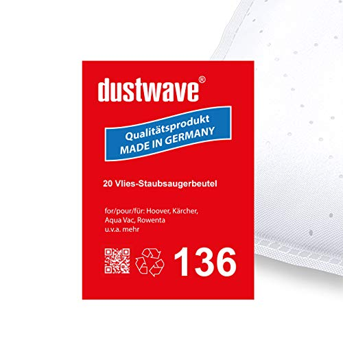 Megapack - 20 Staubfilterbeutel | Filtertüten | Staubbeutel (ca. 20L) geeignet für Thomas - Biovac 1420, 1620 Aquafilter Staubsauger - dustwave® Markenstaubbeutel/Made in Germany
