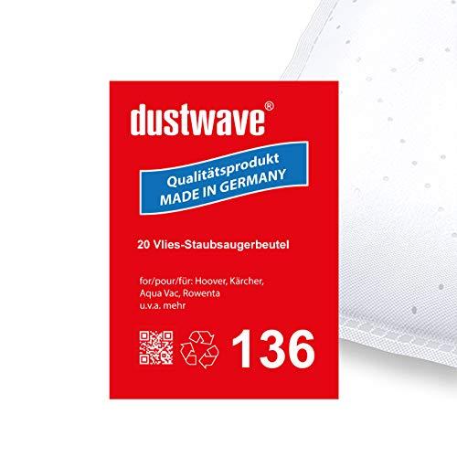Megapack - 20 Staubfilterbeutel | Filtertüten | Staubbeutel (ca. 20L) geeignet für Thomas - Bravo 20 S Aquafilter Staubsauger - dustwave® Markenstaubbeutel/Made in Germany