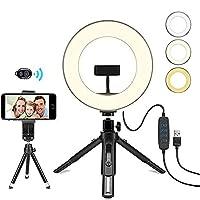 撮影用リングライト,ledライト スマホリング,美しさ10段階/ Youtube動画/ホーム撮影