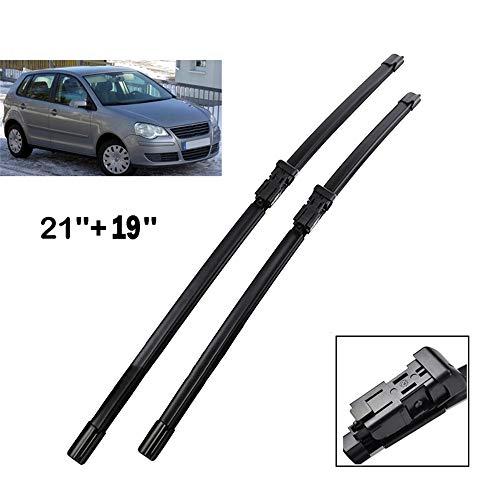 HZHAOWEI Ruitenwisser Front Wisserbladen, Voor VW POLO 2005-2009 9N3 Voorruit Voorruit Voorruit 21 '' + 19 '' (niet U type)