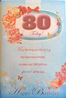 Age 80 Birthday Xpress Yourself Female Lovely Verse 80th New Greeting Card