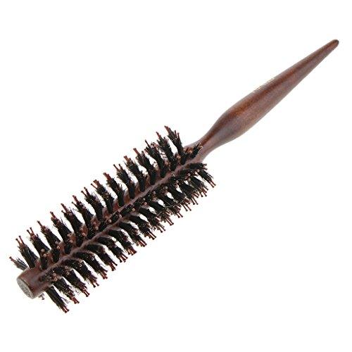 D DOLITY brosse à cheveux ronde poils nylon pour sèche-cheveux 10/12 / 14 rangs Outil élégant de cheveux de qualité de salon profession pour Cheveux en bonne santé, soyeux, lisses - 10 rangs