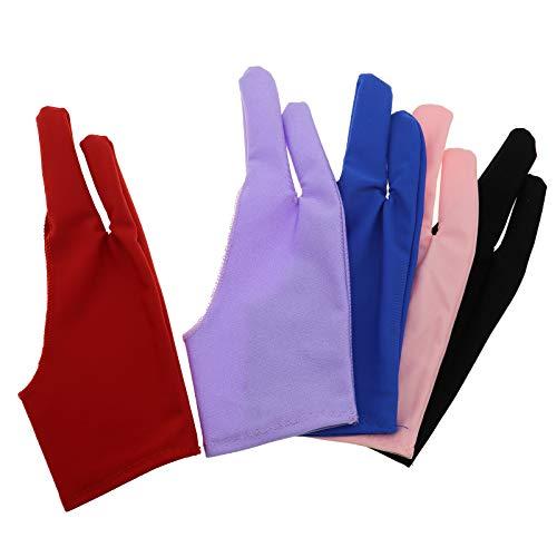 OTOTEC 5 stks Tablet Tekening Anti-fouling Handschoen Blauw Roze Zwart Paars Rood Voor Grafische Tablet Links of Rechts Hand