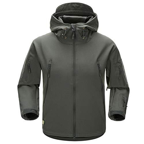 Chaqueta con capucha para hombre, para senderismo, chaqueta de softshell militar, chaqueta táctica de camuflaje, al aire libre, invierno, térmica, resistente al viento, forro polar de invierno