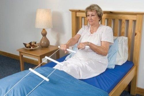 Escalera adaptable para sentarse, adaptable a cualquier armazón de cama, de MEDca