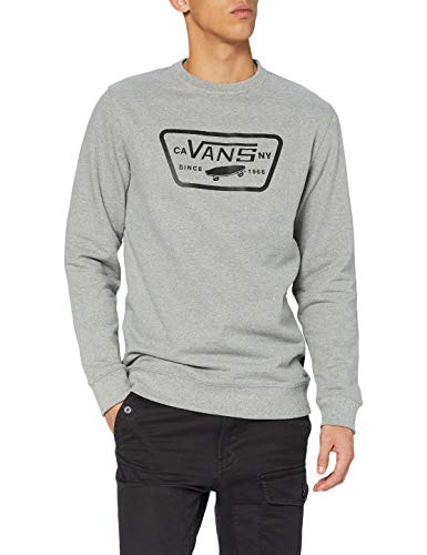 Vans Full Patch Crew II Suéter pulóver, Cemento Heather, XXL para Hombre
