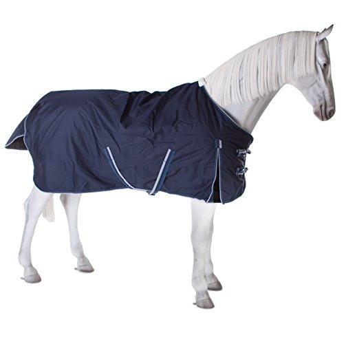 PFIFF 101899 Pferde Winter Decke Willow, Winterdecke Pferdedecke Paddockdecke, Blau 155cm