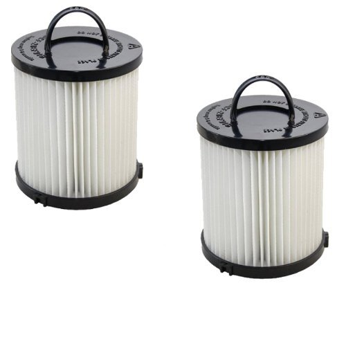 HQRP HEPA Dust Cup Filter 2-Pack compatible with Eureka WhirlWind Plus 3282AVZ, Pet Lover 3276AZ Vac Vacuum Cleaner + HQRP Coaster