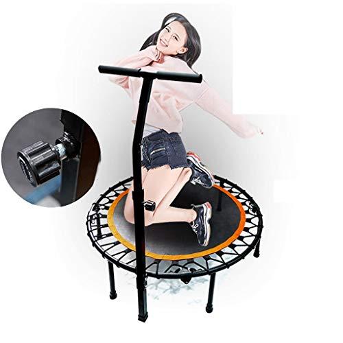 LJMG Indoortrampoline Stretch-Seiltrampolin Trampolin Mit Armlehnen Faltbares Fitness-Trampolin Universal-Trampolin Für Erwachsene Und Kinder, Durchmesser: 40in (Color : Black, Size : 1m)