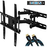 """Cheetah Mounts Dual Articulating Arm TV Wall Mount Bracket for 20-65"""" TVs up to VESA 400 and..."""