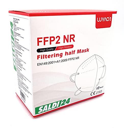 SALDI24 - Atemschutzmaske FFP2 Maske - EU CE 2163 Zertifiziert EN 149...