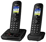<span class='highlight'><span class='highlight'>Panasonic</span></span> KX-TGH722EB Digital Cordless Telephone with Automated Call Block, Enhanced Volume and Answering Machine