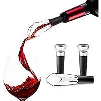 Wine Pourer Pour Spout and Wine Stopper Vacuum